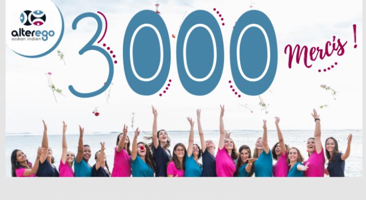 Merci à tous ! : Vous êtes 3000 à nous suivre sur Facebook
